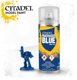 Citadel Model Paint - Macragge Blue Spray: www.mightylancergames.co.uk