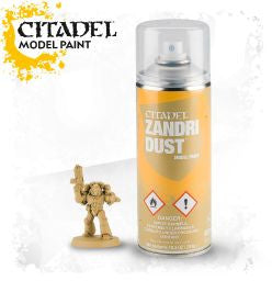Citadel spray paint - ZANDRI DUST SPRAY: www.mightylancergames.co.uk