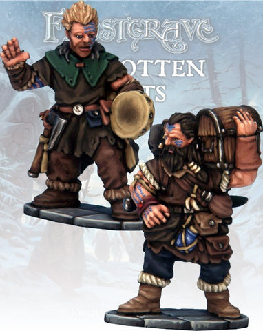 Frostgrave: Barbarian Bard& Pack Mule: www.mightylancergames.co.uk
