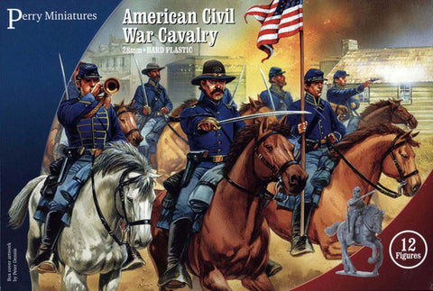 Perry Miniatures: Plastic American Civil War Cavalry ( box of 12 figures)