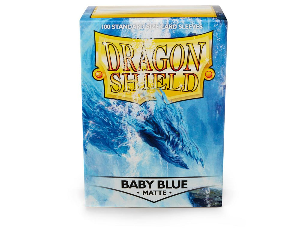 Dragon Shield Baby Blue Matte – 100 Standard Size Card Sleeves: www.mightylancergames.co.uk