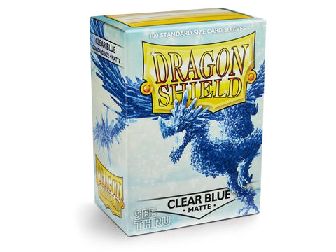 Dragon Shield Matte Clear Blue – 100 Standard Size Card Sleeves