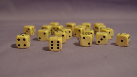 D6: 12mm Ivory D6 (Pack of 20)