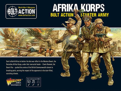 Afrika Korps Starter Army (Bolt Action) :www.mightylancergames.co.uk