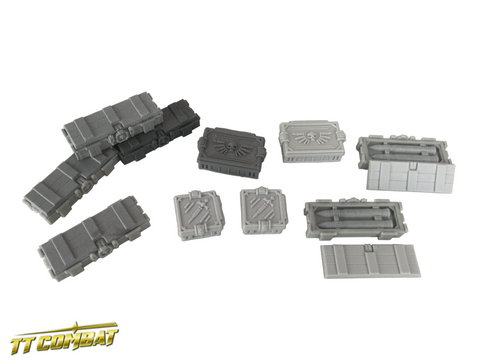 Ammo Crates - Resin (TT Combat GLC0817) :www.mightylancergames.co.uk