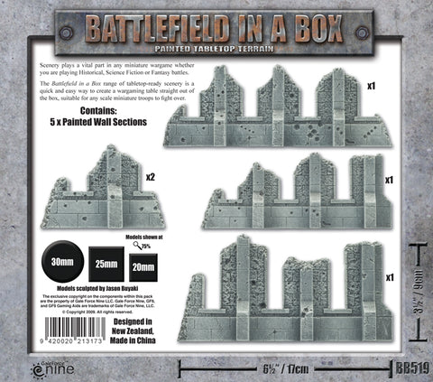 Terrain: Gothic Ruined Walls (BB519)