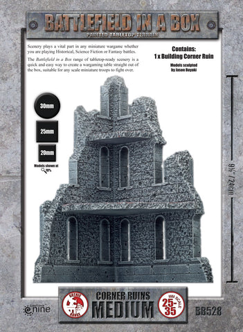 Terrain: Medium Corner Ruin (BB528)