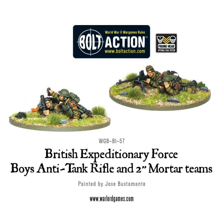 "BEF Anti-Tank Rifle Team & 2"" Light Mortar Teams"