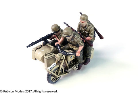 German Motorcycle R75 with Sidecar - North African Campaign (Rubicon 280052) :www.mightylancergames.co.uk