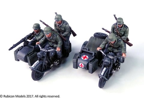 German Motorcycle R75 with Sidecar - Standard Version (Rubicon 280051) :www.mightylancergames.co.uk