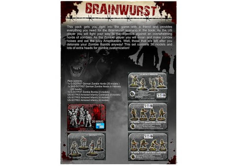 Brainwurst Zombie Onslaught Starter Box Set - Secrets of the third Reich