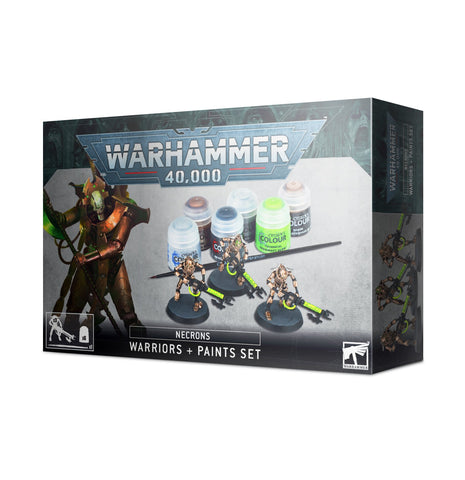 Necrons: Warriors + Paints Set (Warhammer 40,000) **PRE-ORDER for 15th August 2020**