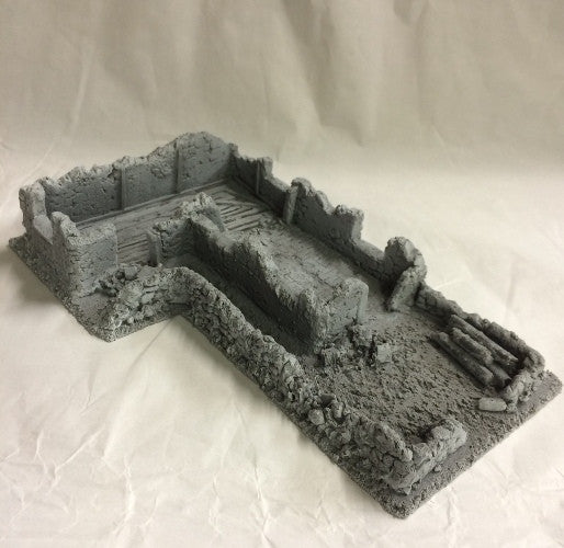 Battle Zone - Derelict Building - Type 17 (BZB17) :www.mightylancergames.co.uk