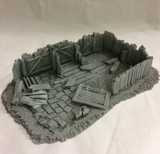 resin ruined building derelict scenery
