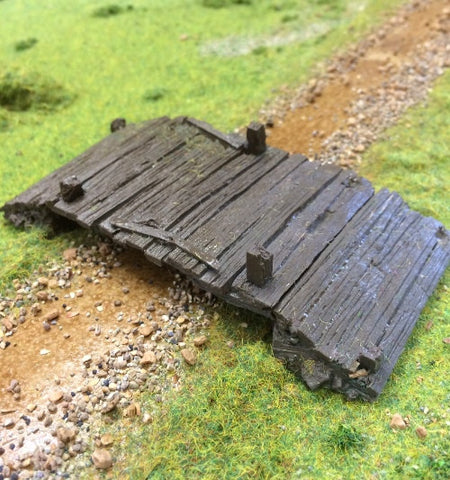 resin Timber bridge 28mm wargame terrain