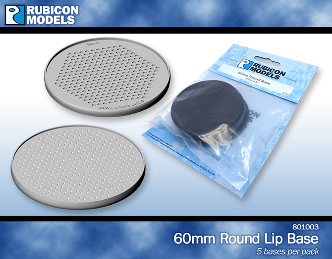 Rubicon 60mm bases (pack of 5)