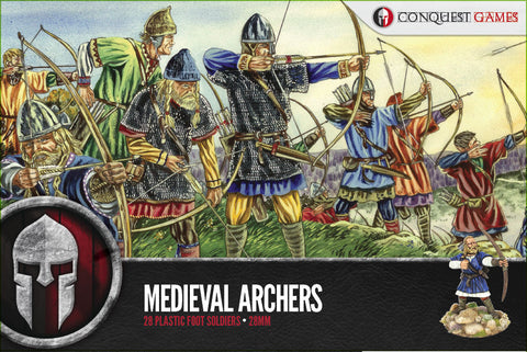 Conquest Games: Medieval Archers plastic boxed set