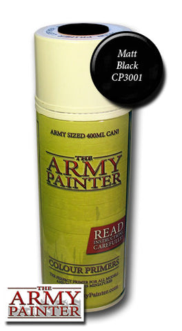 Colour Primer - Matt Black Undercoat (The Army Painter Spray Can) :www.mightylancergames.co.uk