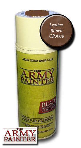 Army painter leather brown spray primer 400ml: www.mightylancergames.co.uk