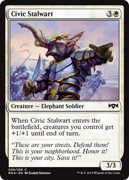 Civic Stalwart - Ravnica Allegiance MTG Single Card