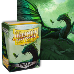 Emerald Matte Dragon Shield – 100 Standard Size Card Sleeves