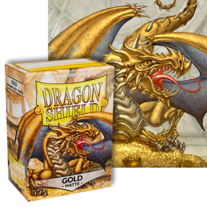 Dragon Shield Matte Gold - 100 Standard Size Card Sleeves