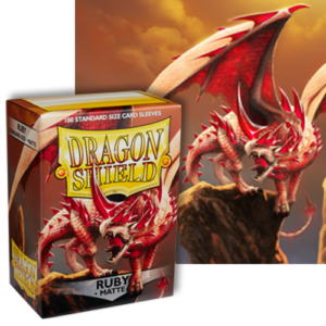 Ruby Matte Dragon Shield – 100 Standard Size Card Sleeves
