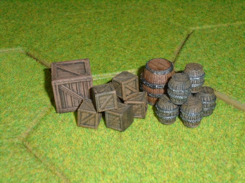 Small Barrels & Crates (Irongate Scenery) :www.mightylancergames.co.uk