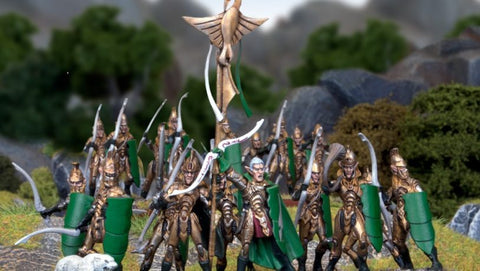 Elf Bowmen Regiment - Kings of War :www.mightylancergames.co.uk
