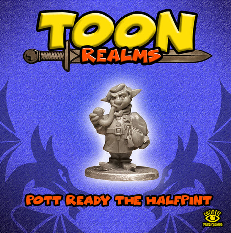 Pott Ready the Halfpint - Toon Realms Miniatures - Lucid Eye Publications