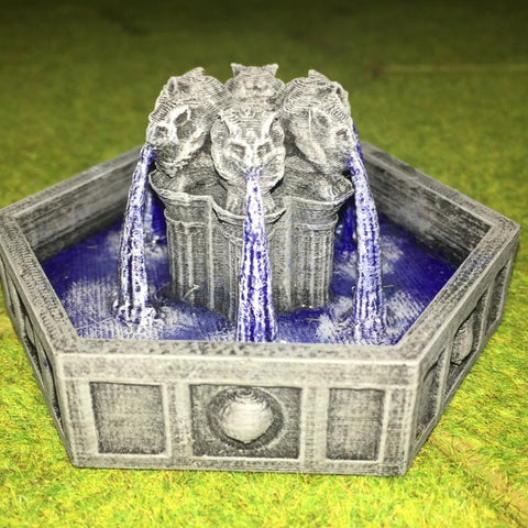 Fountain - Iron Gate Scenery (P048) :www.mightylancergames.co.uk