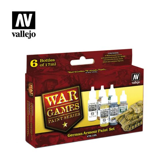 AV Vallejo Model Colour Set - WWII Wargames - German Armour