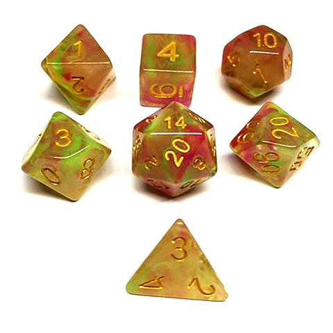 Storm Dice Set D20 Poly Dice set - Red/ Green