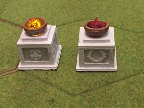 Roman Braziers x 2 (Irongate Scenery 28mm) :www.mightylancergames.co.uk