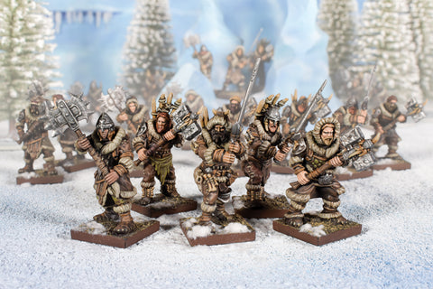 Clansmen Regiment with Two-Handed Weapons - Northern Alliance (Kings of War)