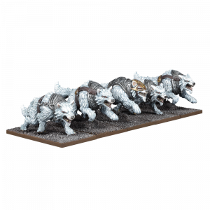 Tundra Wolves Troop - Kings of War :www.mightylancergames.co.uk
