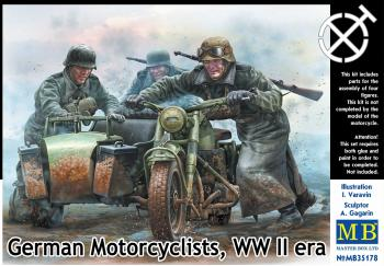 German Motorcyclists, WW2 era - 1/35 Master Box: www.mightylancergames.co.uk