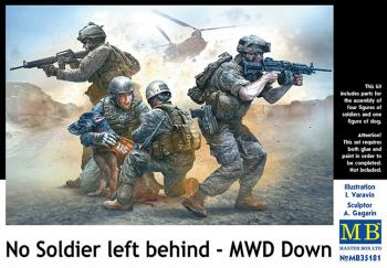 Masterbox 1:35 - No Soldier left behind - MWD Down (Master Box): www.mightylancergames.co.uk