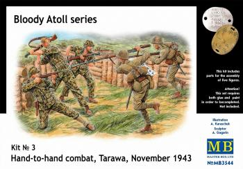 Masterbox 1:35 - 'Bloody Atoll Series. Kit No 3'. Hand-to-hand combat. Tarawa, November 1943 (Master Box): www.mightylancergames.co.uk