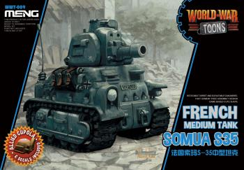 Meng World War Toon - Somua S35: www.mightylancergames.co.uk
