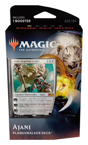 Ajani - Planeswalker Core 2020: www.mightylancergames.co.uk