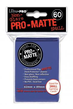 60ct Matte Blue Small Deck Protectors Sleeves (62mm x 89mm): www.mightylancergames.co.uk