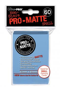 60ct Matte Light Blue Small Deck Protectors Sleeves (62mm x 89mm): www.mightylancergames.co.uk