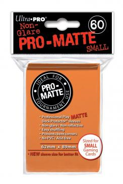 60ct Matte Orange Small Deck Protectors Sleeves (62mm x 89mm): www.mightylancergames.co.uk