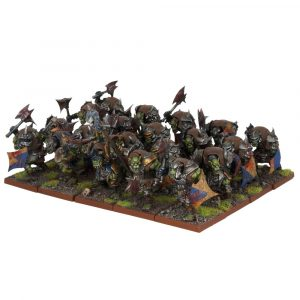 Orc Ax Regiment - Orcs (Kings of War) :www.mightylancergames.co.uk