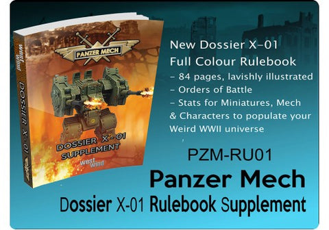 Rules Dossier X-01 Supplement (Panzer Mech) :www.mightylancergames.co.uk