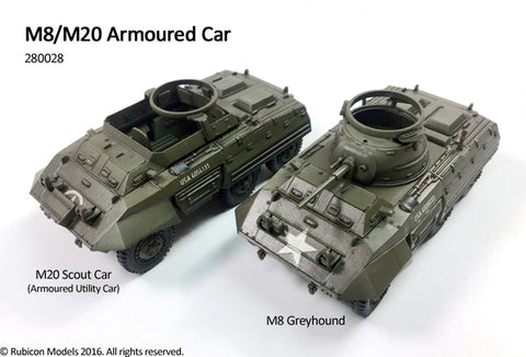 M8 / M20 Armoured Car - USA (Rubicon 280028) :www.mightylancergames.co.uk