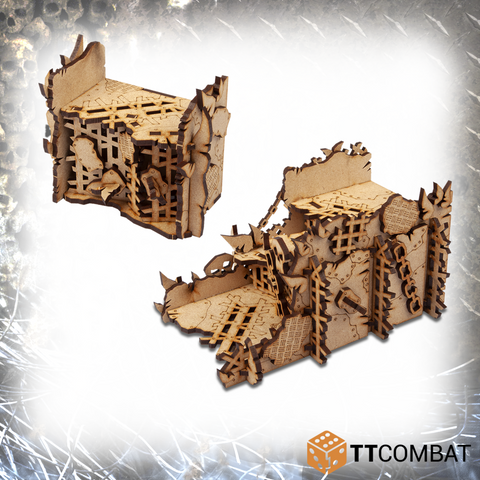 Orc Ruined Walls - Tabletop Scenics (MDF)