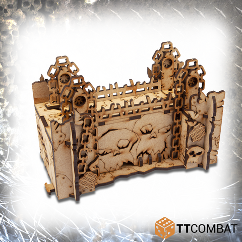 Orc Wall Gate  - Tabletop Scenics (MDF)