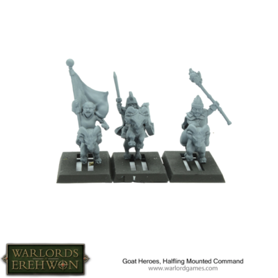 Warlords of Erehwon: Goat Heroes, Halfling Mounted Command